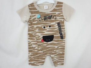 Zebra Applique Attached Back Switching Short Sleeve Combi