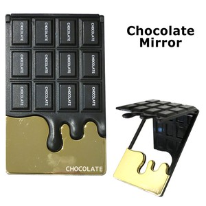 Handy Mirror Chocolate Mirror Food Product Sample Chocolate velty Halloween Christmas