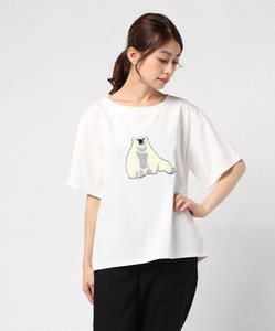 Polar Bear Embroidery Short Sleeve T-shirt