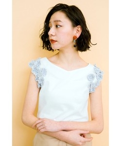 Flower Embroidery Motif Compact Top