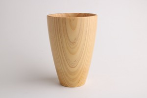 Characteristic Wood Grain Wooden Cup