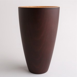 Characteristic Wood Grain Wooden Long Cup Brown