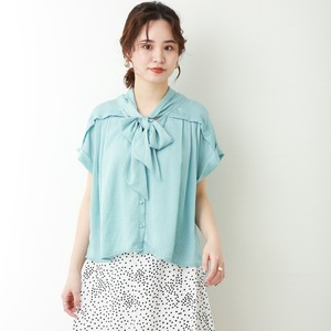 Ribbon Blouse Short Sleeve [ 2020NewItem ]