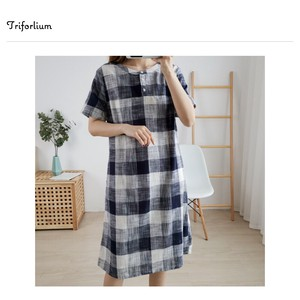 [ 2020NewItem ] 3 Colors Material Checkered One-piece Dress