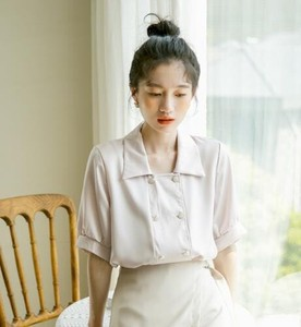 Shirt Blouse New Arrival Double Rest Short Sleeve Shirt