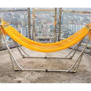 Hammock White Hammock Folded Indoor Home Net Bed Single Stand