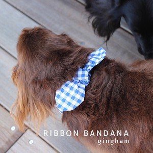 Ribbon Bandana Checkered Ice Gel Attached Ribbon Removal [ 2020NewItem ]