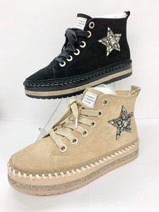 Reservations Orders Items Genuine Leather Glitter Sneaker