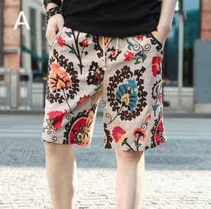 Men's Floral Pattern Leisurely Half Length Pants Shor Pants 6 Colors
