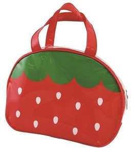 Vinyl Overnight Bag Strawberry