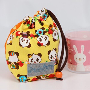 Pouch Hand Maid nami Cup Bag Panda Bear Yellow