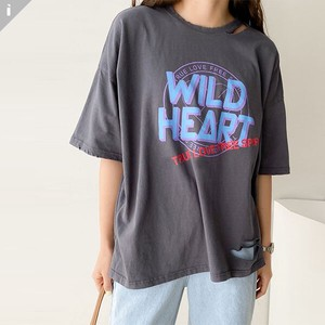 Vintage Fit Short Sleeve Top Long T-shirt