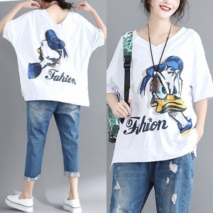 Donald Duck Both Sides Cotton T-shirt