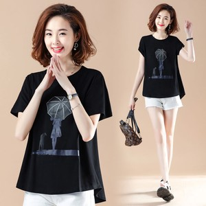 Print Short Sleeve T-shirt Blouse