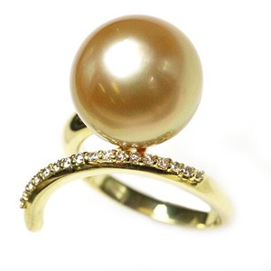 Pearl Gold Pearl Diamond Ring Ring Size 10