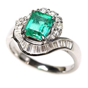 Emerald Diamond Ring Ring Size 12