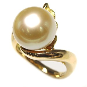Pearl Gold Pearl Diamond Ring Ring Size 12