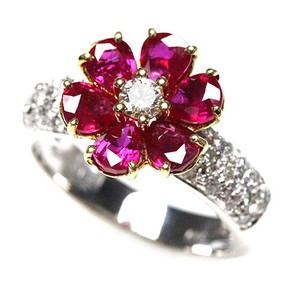 Ruby Diamond Ring Ring Size 12