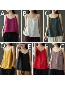 Ladies Plain Tank Top T-shirt