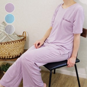 Water Absorption Fast-Drying Pile Short Sleeve Long Pants Loungewear Set