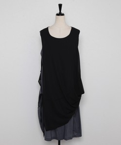Chiffon Vest Attached Sleeveless One-piece Dress
