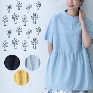 S/S Embroidery Blouse Tunic