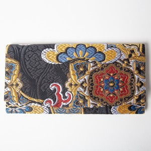 """Kinran"" Long Wallet with a zipper"