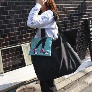 【mis zapatos】スニーカーサコッシュ(エコバッグ付き) ¥3900