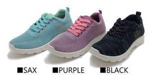 Ladies Soft Sole Knitted Sneaker 3 color set 24 Pairs