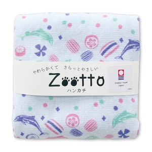 IMABARI TOWEL Candy Gauze Handkerchief Animal Zoo