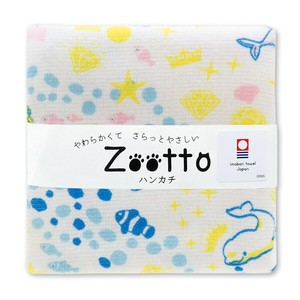 IMABARI TOWEL White Dolphin Gauze Handkerchief Animal Zoo