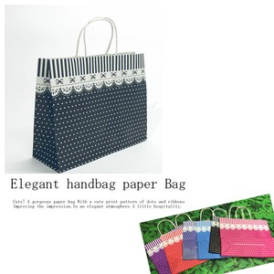 Elegant Handbag Paper Bag Ribbon Dot 20 Pcs Set