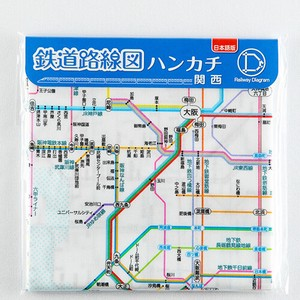 Train Handkerchief Kansai