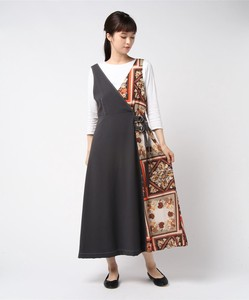 Handkerchief Patchwork Color Scheme Switching Apron One-piece Dress Bespoke Print