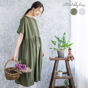 One-piece Dress Dobby One-piece Dress Sheer Dot Crew Neck Long Robe One-piece Dress