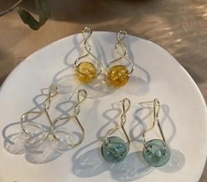 Glass Ball Pierced Earring