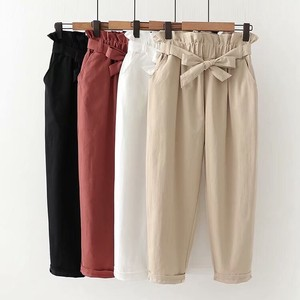 Ladies Plain Slim Effect Pants 4 Colors