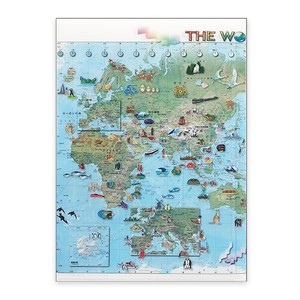 Plastic Folder Illustration World Map