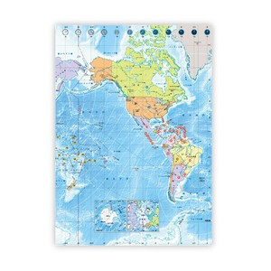 B5 Notebook World Map