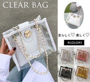 [ 2020NewItem ] Ladies Small Shoulder Bag Handbag Clear Jelly Bag Chain