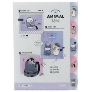 ANIMAL Die Cut A4 Plastic Folder Fashion