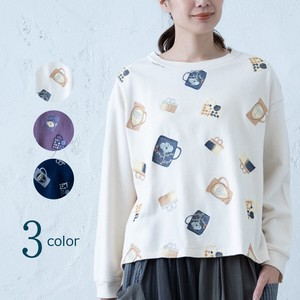 A/W Cup Embroidery Fleece Pullover