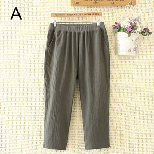 Ladies Plain Three-Quarter Length Casual Pants 3 Colors
