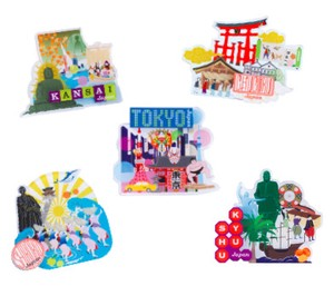 Japanese Craft Souvenir memories Magnet Here Design [ 2020NewItem ]