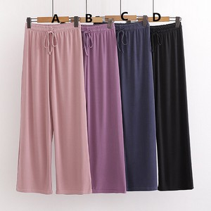 Ladies Plain Leisurely Viscose Pants 4 Colors