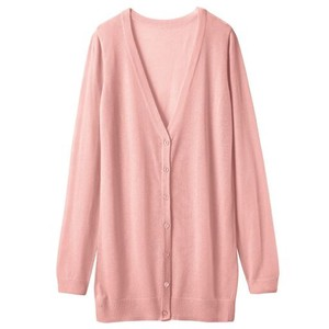 V-neck Long Knitted Cardigan