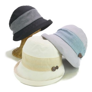 Light-Weight Button Two Tone Crochet Ladies Hats & Cap