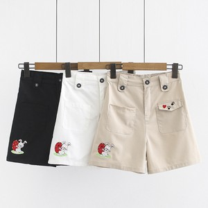 Ladies Strawberry Rabbit Embroidery Shor Pants 3 Colors
