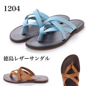 【イタリコ】日本製 徳島レザートングサンダル(1204)