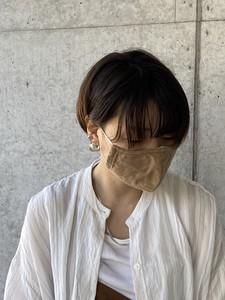【2020春夏新作】デザインマスク C/#30 ダブルガーゼベージュ